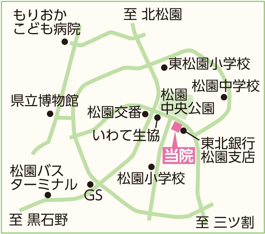 ヒロバランスクリニック地図